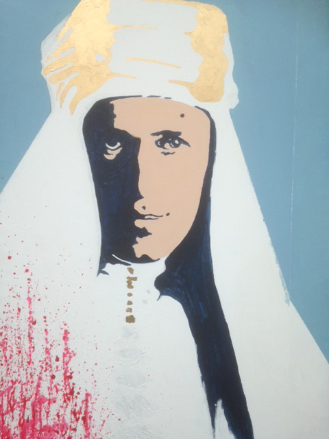 T.E. Lawrence painted by Jan Woolf