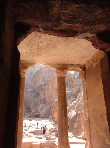 From the inside tomb Petra